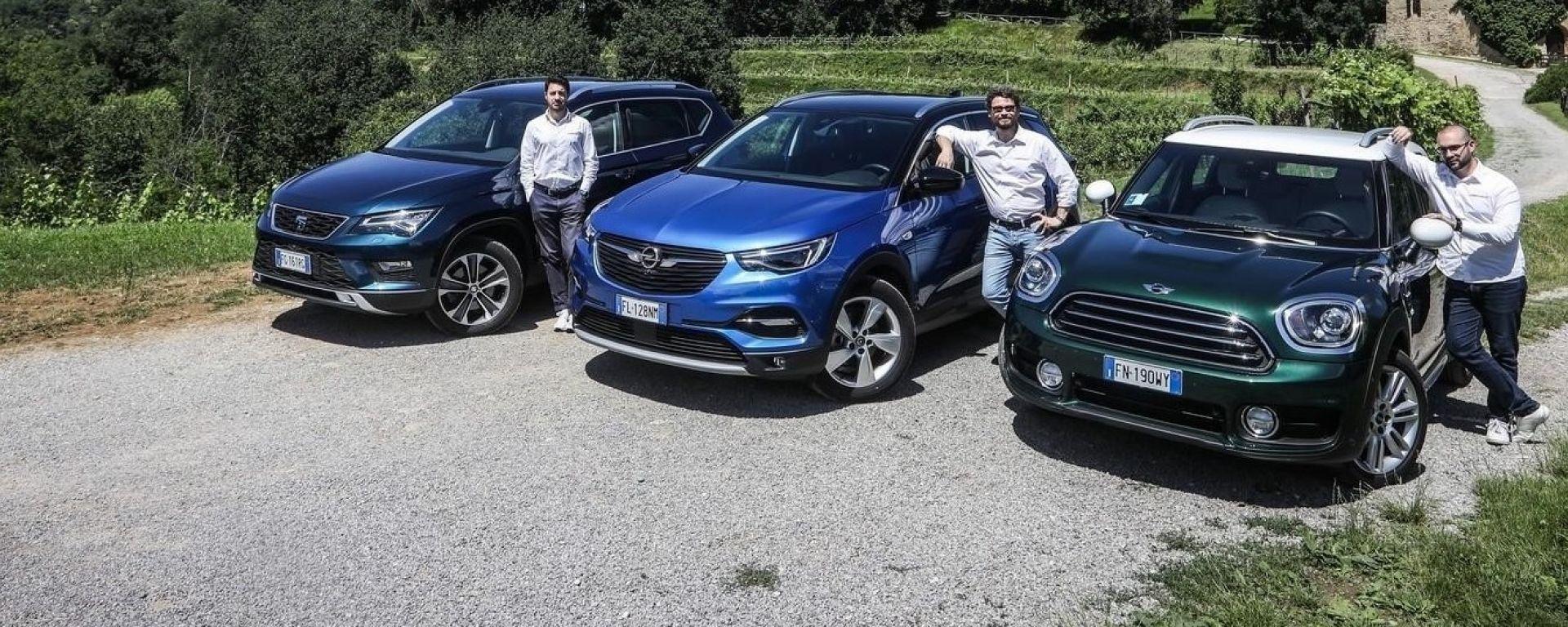 I SUV a benzina Opel, Seat e Mini sfidano le versioni diesel