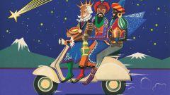 Pubblicità Vespa Natale 1956