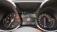 Quadro strumenti dell'Alfa Romeo Giulia Veloce a benzina