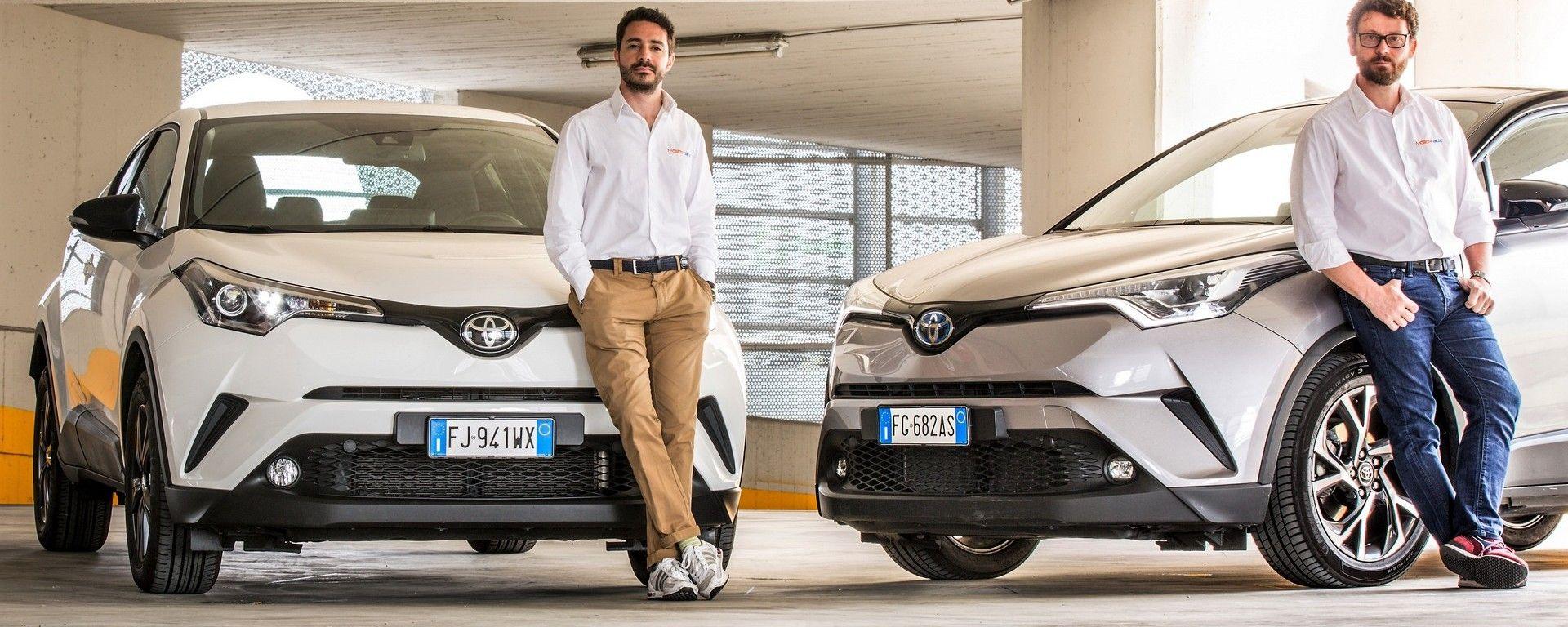 Quale scegliere: Toyota C-HR Hybrid  vs Toyota C-HR 1.2 Turbo