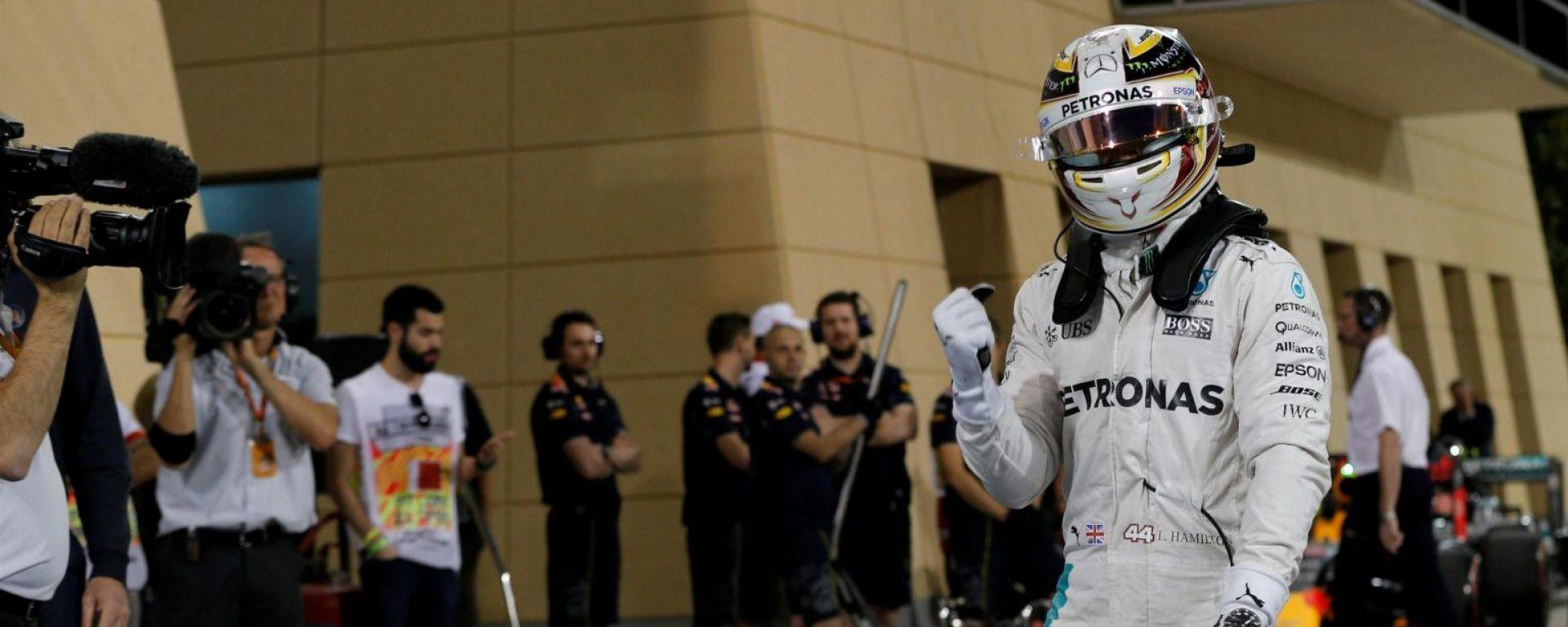 F1 GP Bahrain: Pole Position Hamilton, Vettel terzo nelle qualifiche