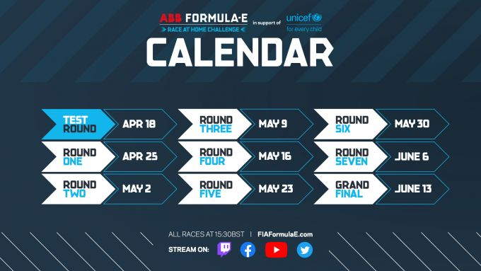 Race at Home Challenge, il calendario della serie Esport Formula E