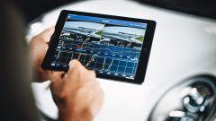 Race Navigator, l'interfaccia su tablet