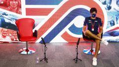 Racing Point, Lance Stroll in conferenza a Silverstone senza il compagno Sergio Perez
