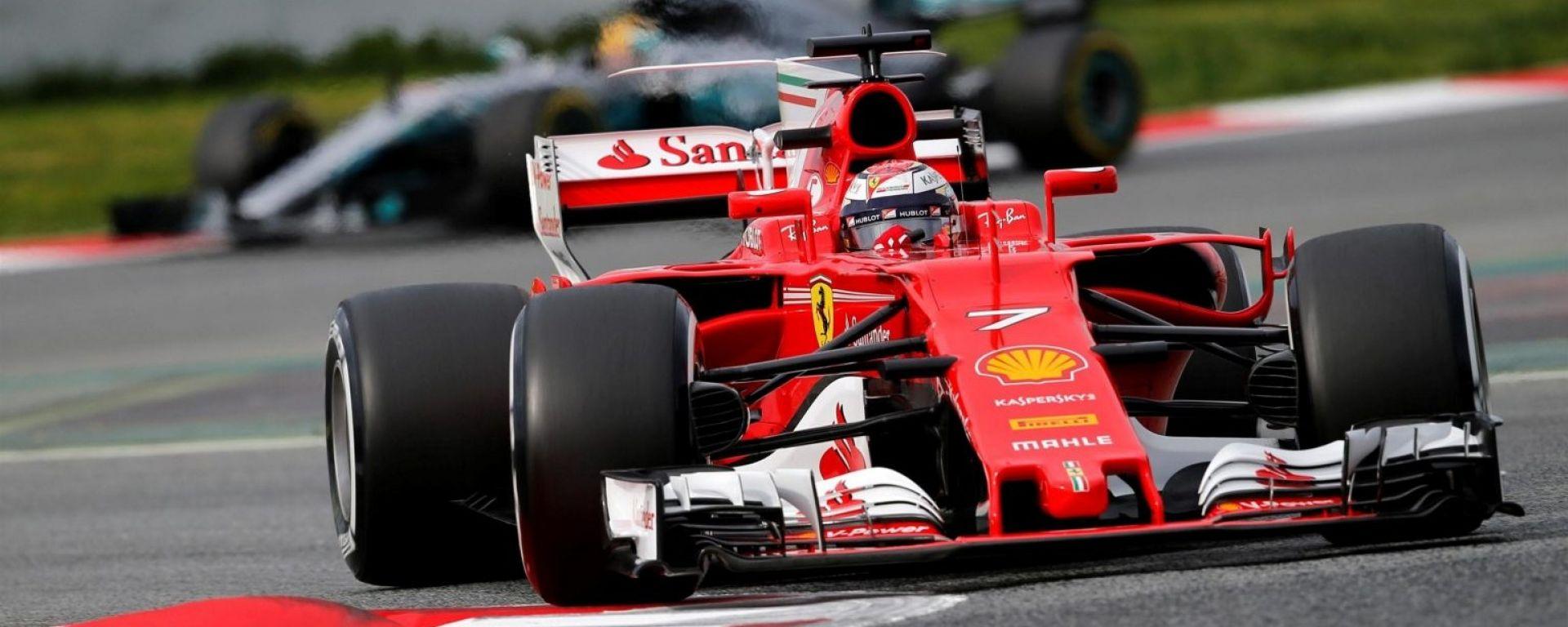 Raikkonen e la Ferrari - F1 2017 test Barcellona