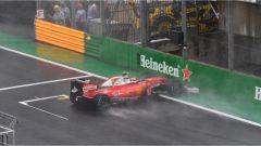 Raikkonen e la sua Ferrari in aquaplaning