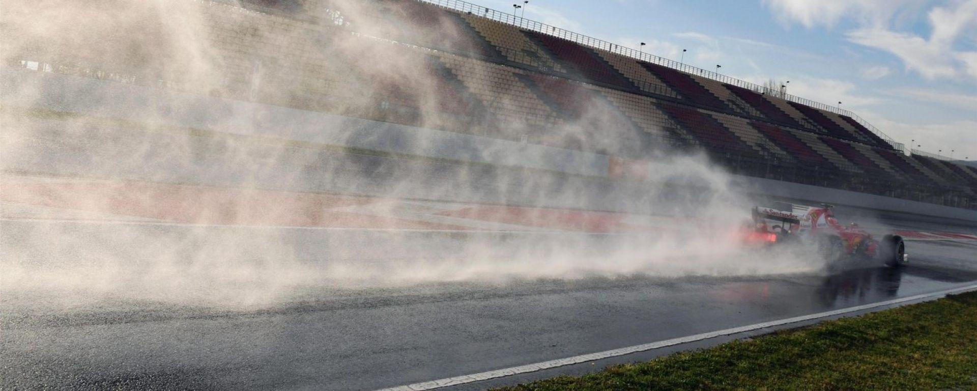 Raikkonen sulla Ferrari - F1 2017 test pre-stagionali Barcellona