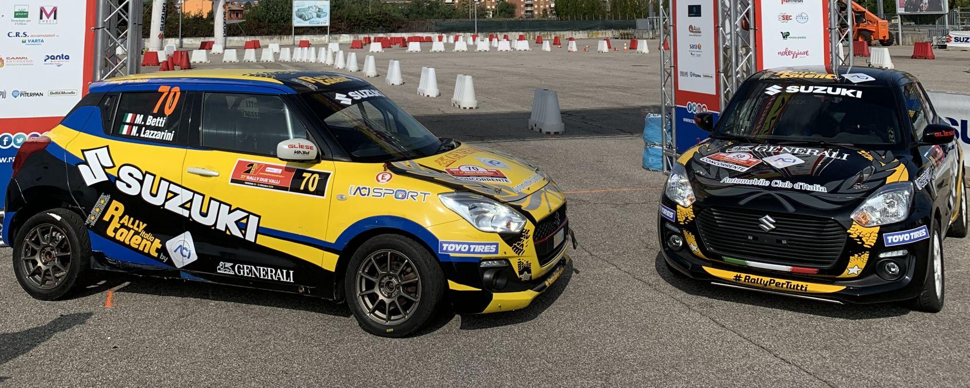 Rally Due Valli 2019: le due Suzuki Swift Boosterjet 1.0 RS dei vincitori dell'Aci Rally Italia Talent 2019