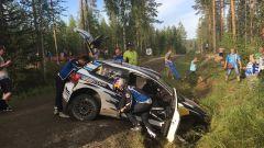 Rally Finlandia - l'incidente di Ogier nel 2016
