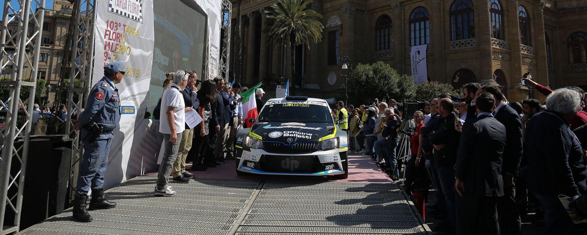 Rally Targa Florio 2019, la cerimonia di partenza dal Teatro Massimo di Palermo