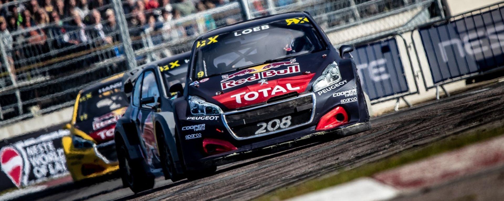 Rallycross 2018: Loeb porta la Peugeot sul podio del GP di Riga