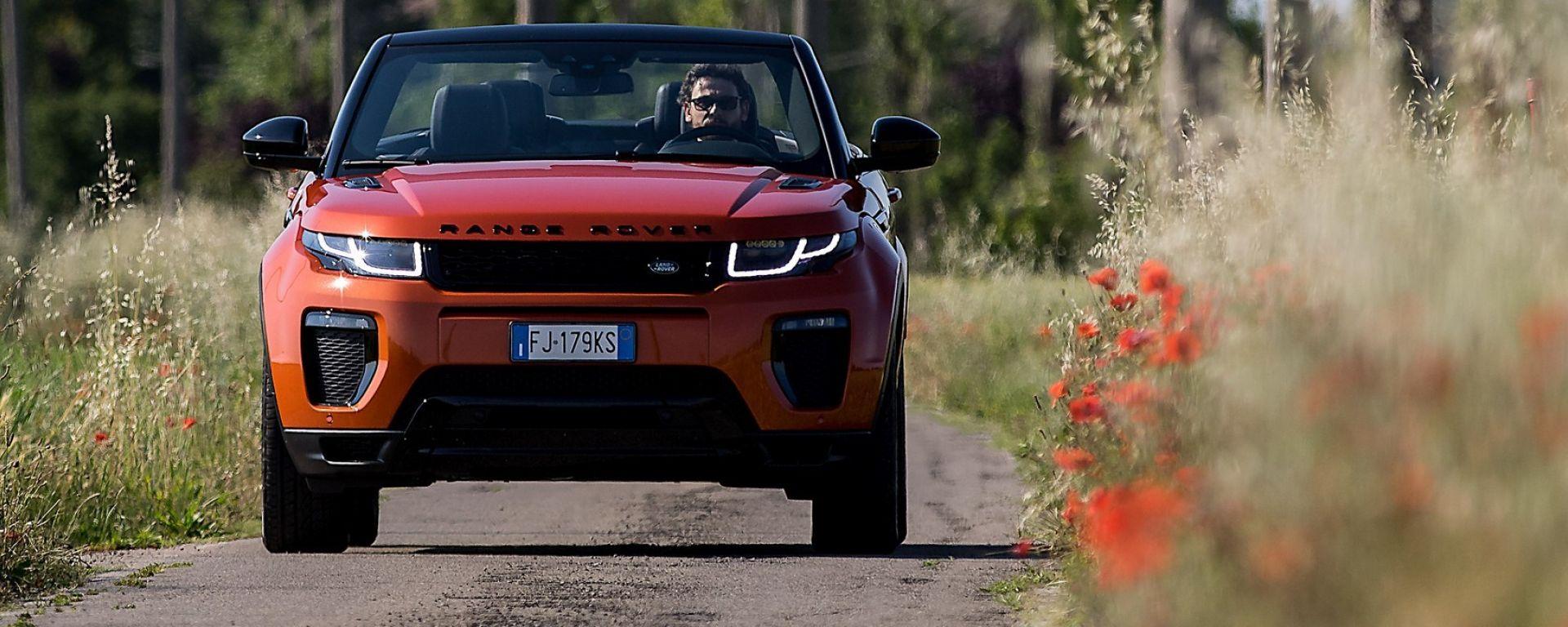 Range Rover Evoque Cabrio, la prova su strada