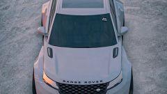 Range Rover Velar: il rendering. Dall'alto ha forma a clessidra