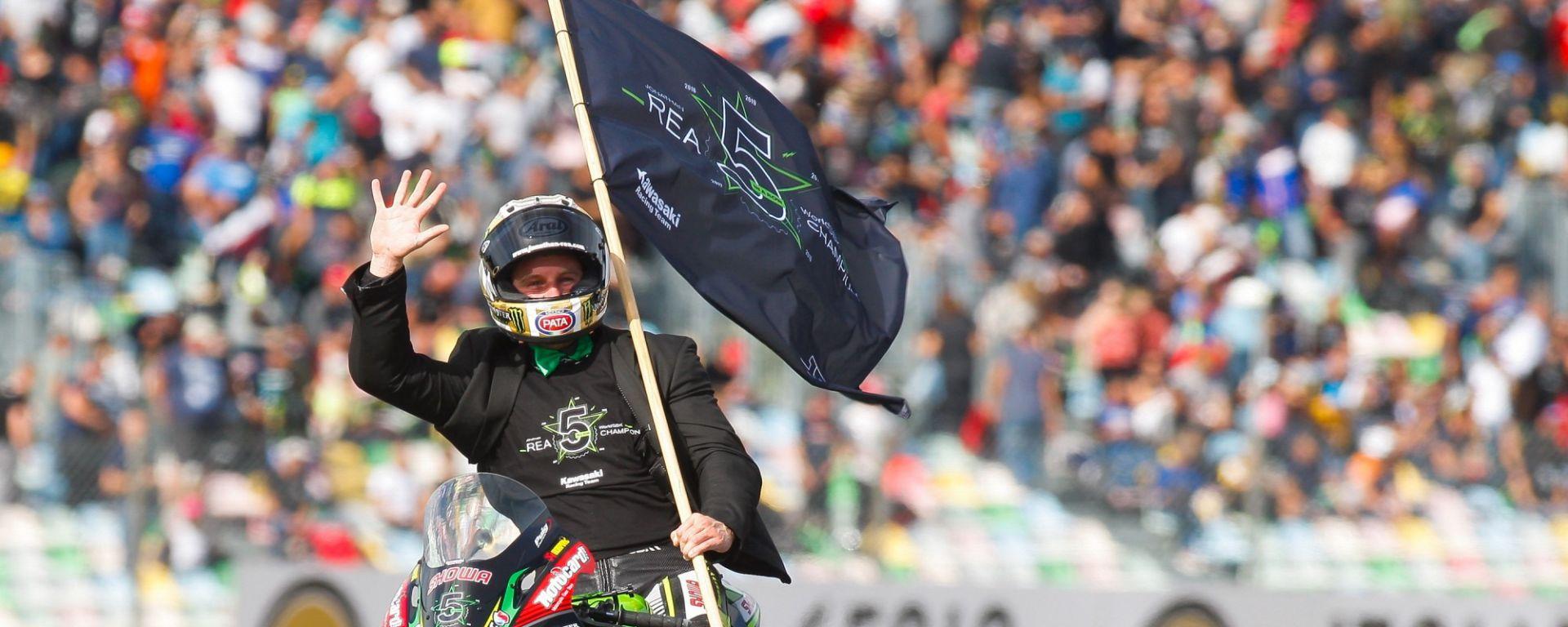 Rea (Kawasaki) festeggia il quinto titolo a Magny-Cours