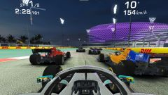 Real Racing 3: immagini di gioco con le monoposto Formula 1 ad Abu Dhabi