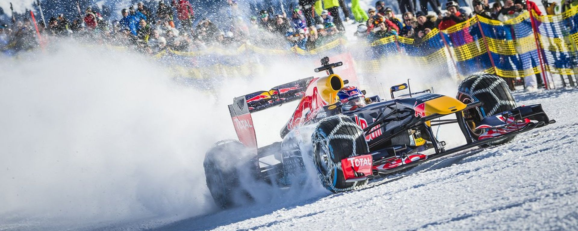 Red Bull: il 2019 inizia con crash test, shakedown e... neve