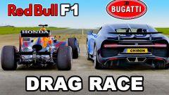 RedBull RB7 sfida Bugatti Chiron