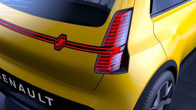 Renault 5: i gruppi ottici posteriori