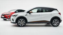 Renault Captur 2019 bianca vista laterale