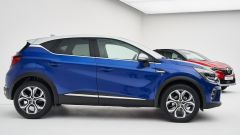 Renault Captur 2019 blu vista laterale