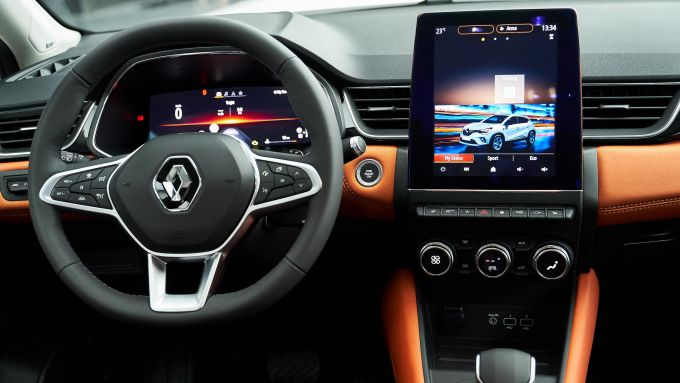 Renault Captur 2019: niente head up display, neanche optional