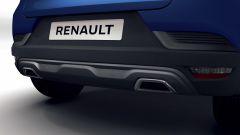 Renault Captur R.S. Line: dettaglio del (finto) estrattore e del doppio scarico cromato