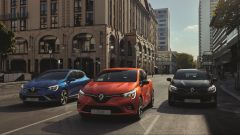 Renault Clio 5 2019: foto di gruppo in 3 degli 11 colori disponibili