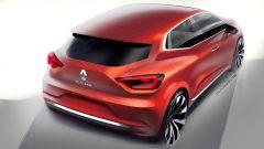 Renault Clio 5 2019: il bozzetto della 3/4 posteriore
