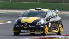 Renault Clio Cup Italia 2019, Vallelunga: la macchina impegnata nella Press League