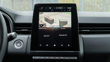 Renault Clio E-Tech, lo schermo dell'infotainment