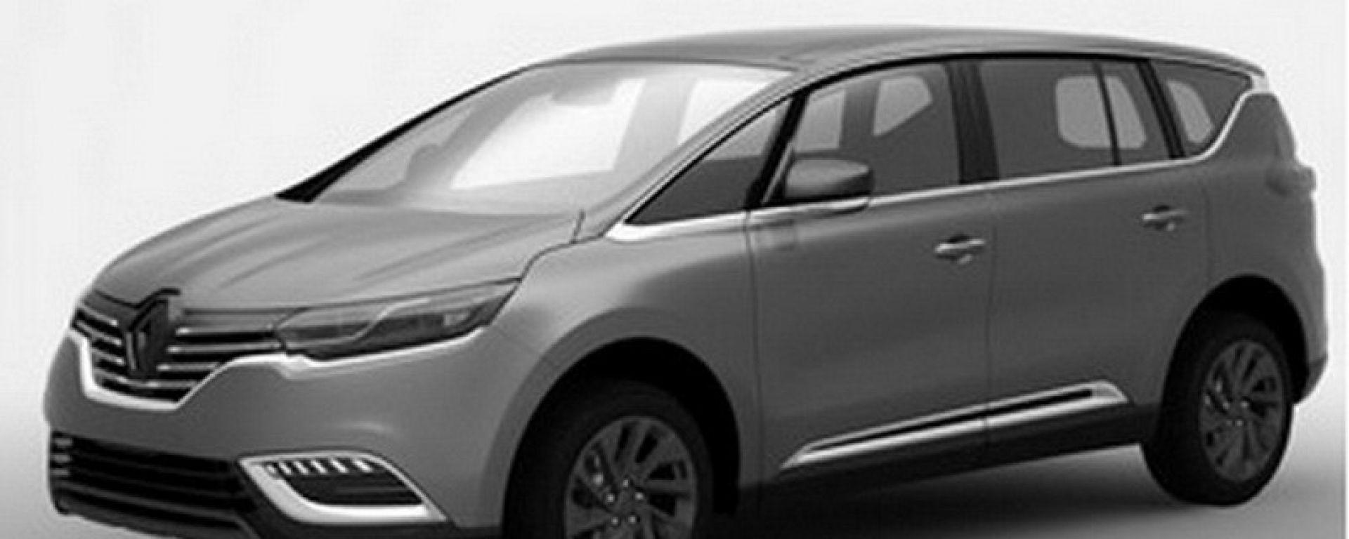 Renault Espace 2015, le prime tracce