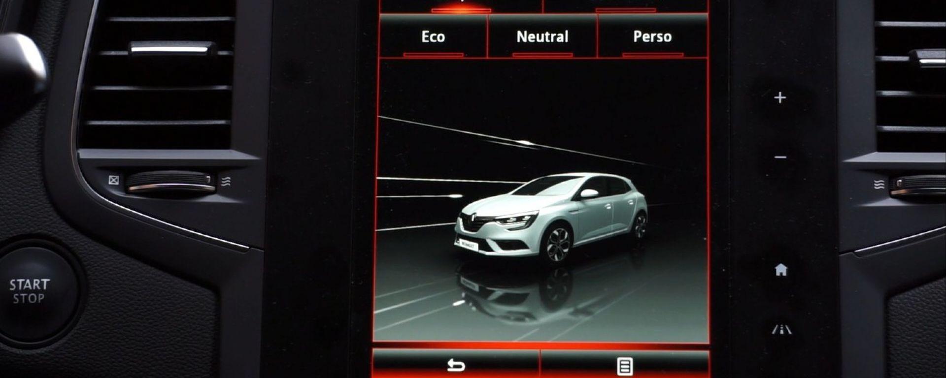 Renault Mègane 2016: la prova dell'infotainment