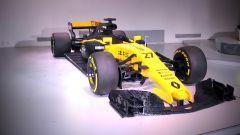 Renault RS17 fatta di Lego, vista tre quarti