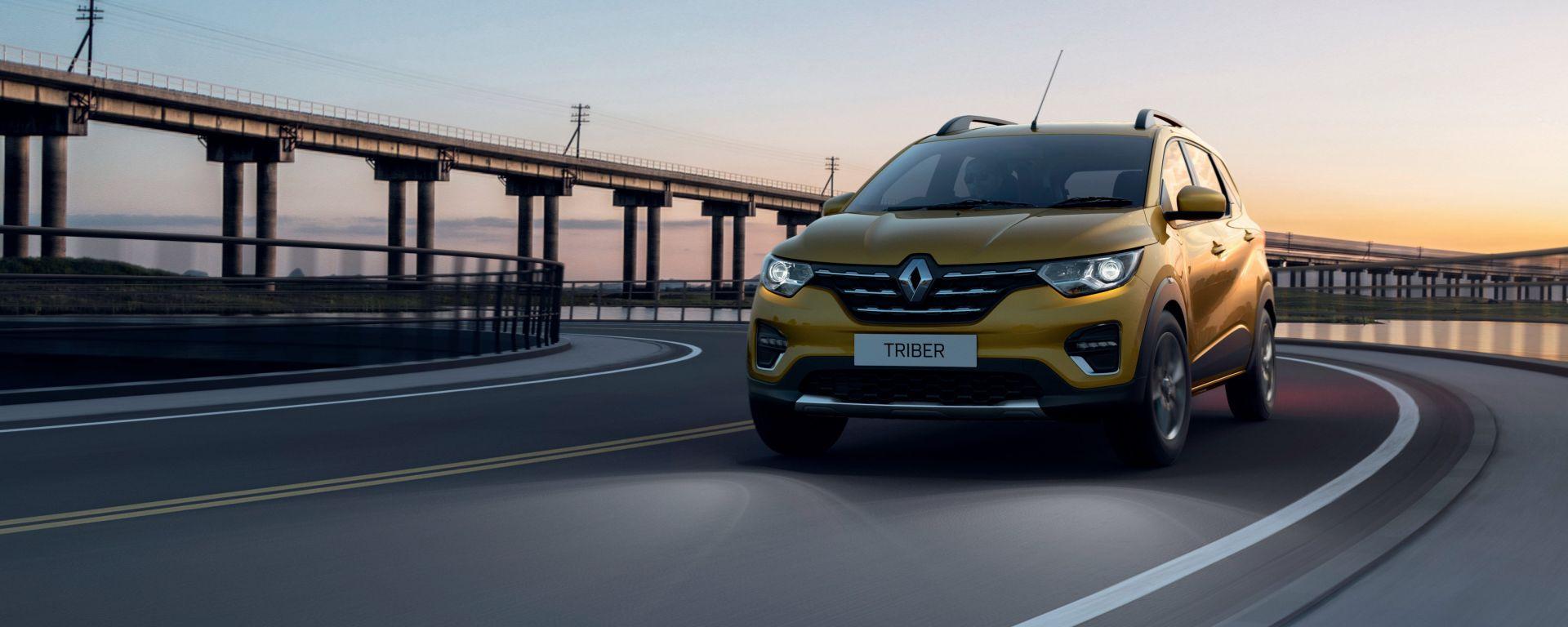 Renault Triber in movimento