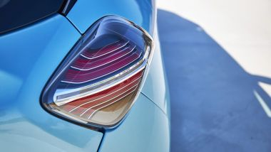 Renault Zoe, la prova su strada: i gruppi ottici posteriori