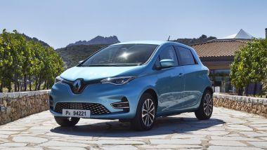 Renault Zoe, la prova su strada: visuale di 3/4 anteriore