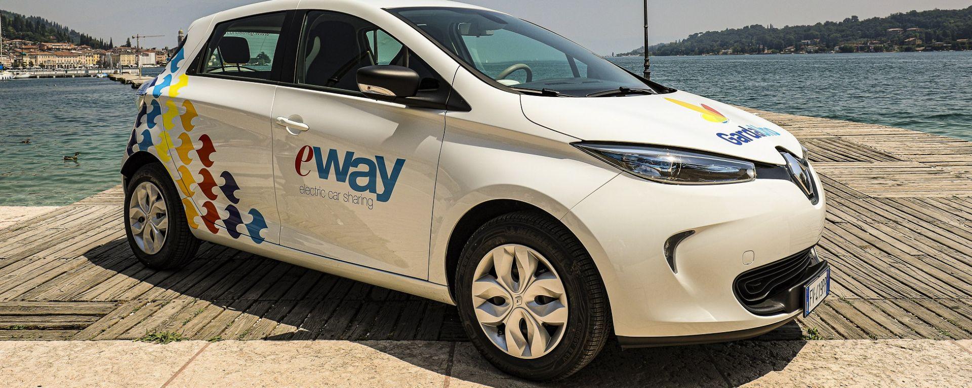 Renault Zoe, l'auto del car sharing elettrico eWay sul Garda