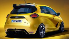 Renault ZOE RS rendering: il posteriore