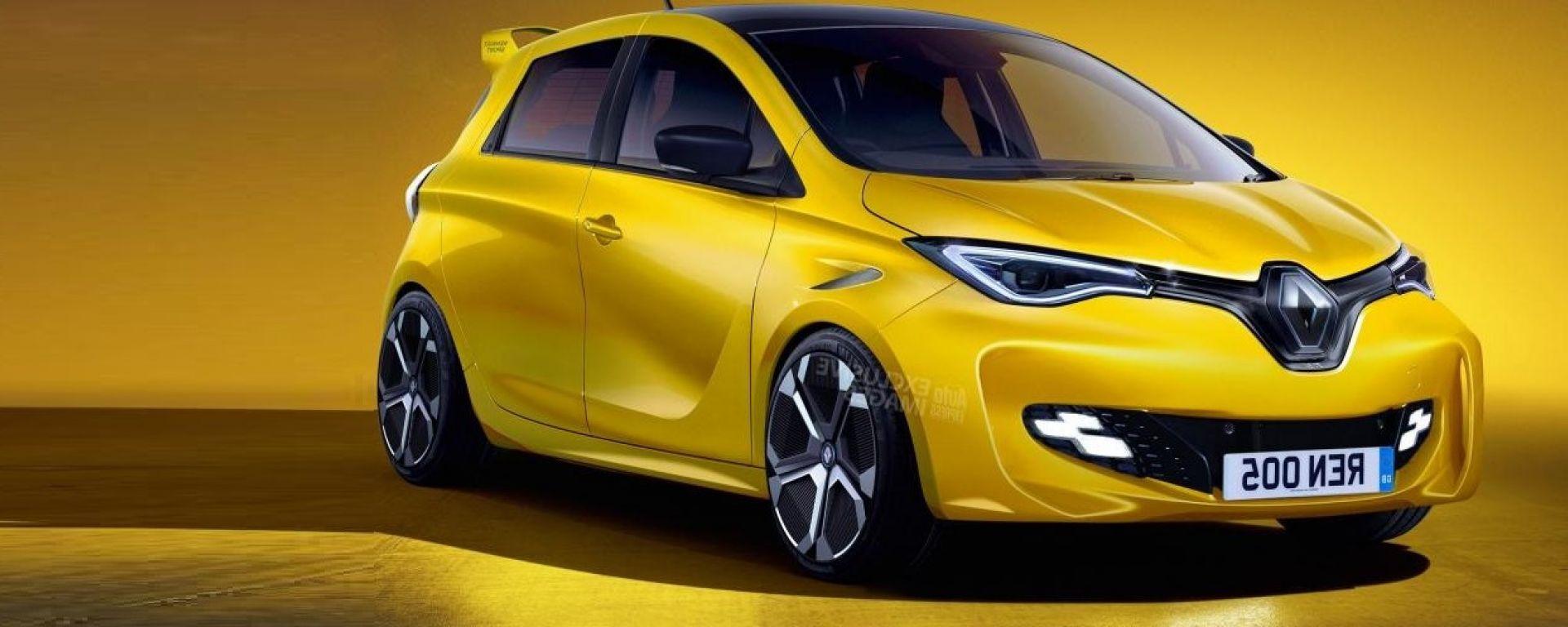 Renault ZOE RS rendering: vista frontale