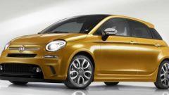 Render Fiat 500 5 porte