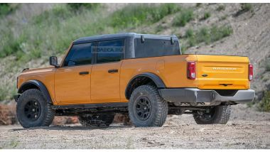 Render Ford Bronco pick-up: posteriore