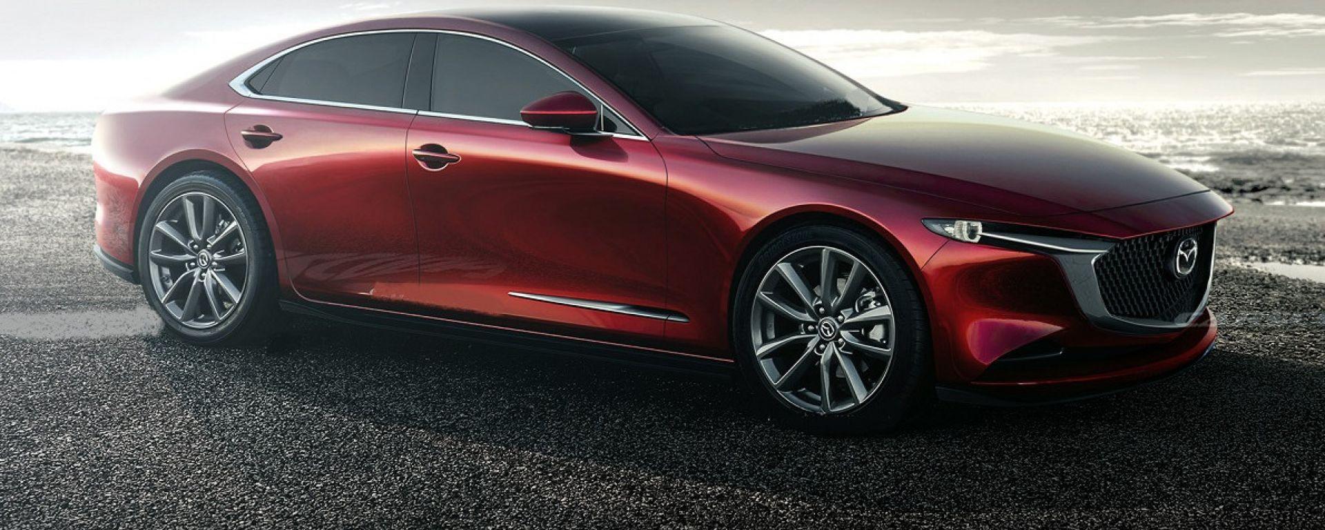 Render grafico di nuova Mazda6 2022