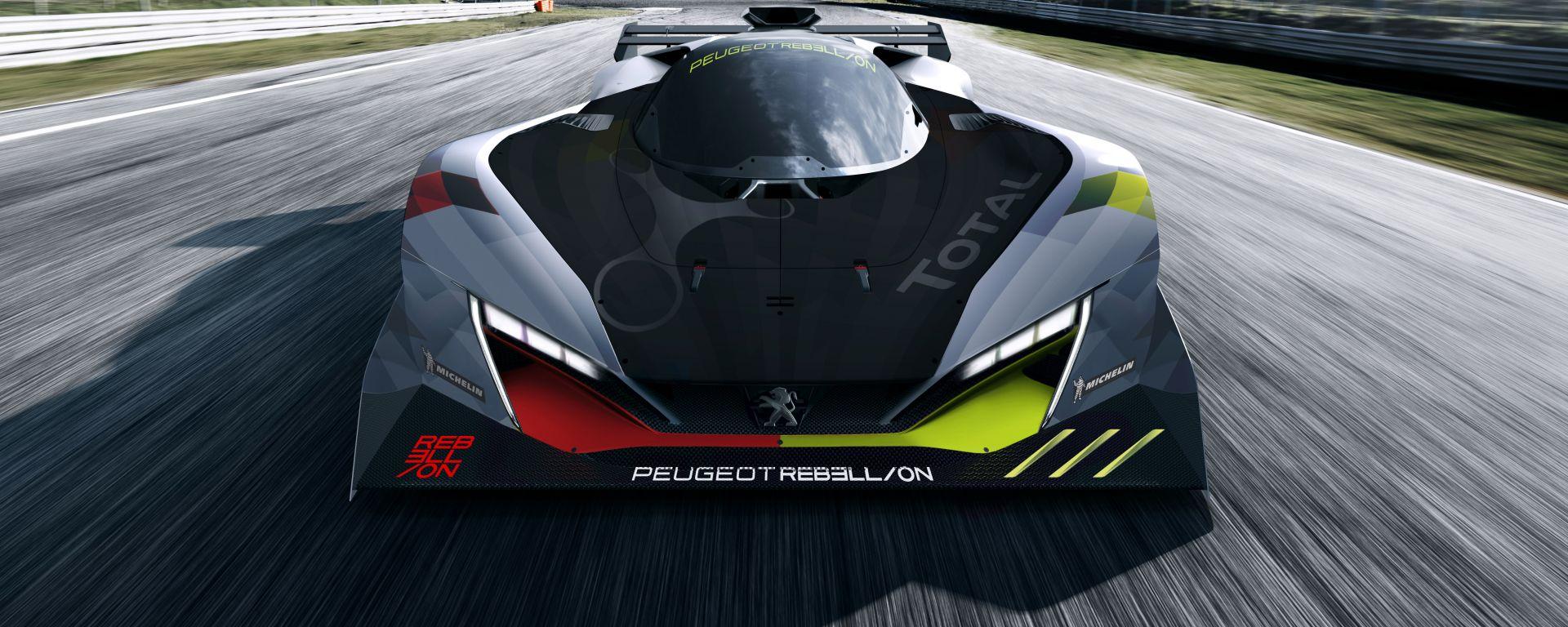 Rendering dell'hypercar Peugeot