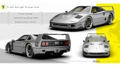 Rendering Ferrari FXX40: come nasce una supercar dalla matita di Travis Walmsley