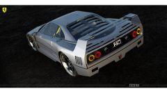 Rendering Ferrari FXX40: l'ala posteriore è una parte iconica del design di questa supercar