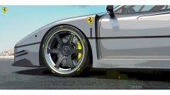 Rendering Ferrari FXX40: un primo piano della zona laterale anteriore