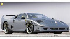 Rendering Ferrari FXX40: una vista di 3/4 anteriore