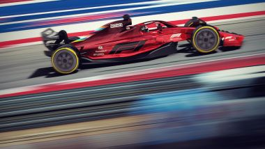 Rendering ufficiale monoposto F1 2021