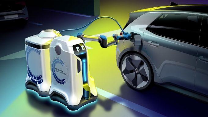 Ricariche gestite da robot autonomi: il progetto di Volkswagen