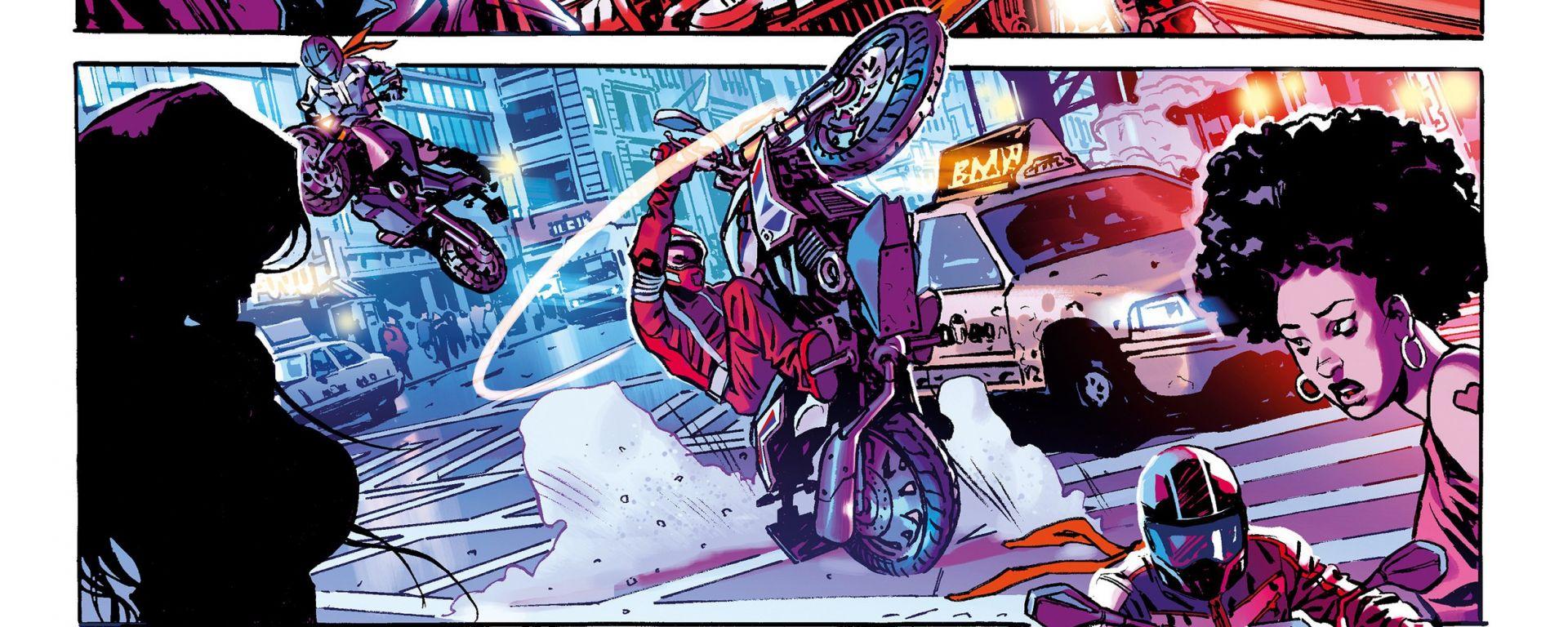 Riders in the storm è un fumetto disegnato da riccardo burchielli